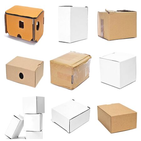 a collage of nine pictures of different boxes photo