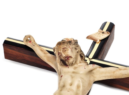 crucified: a figure of Jesus Christ in the holy cross Stock Photo