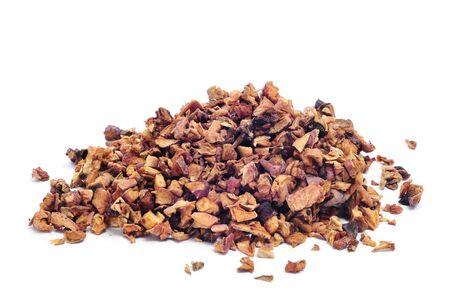 thirstiness: closeup oa pile of apple tea