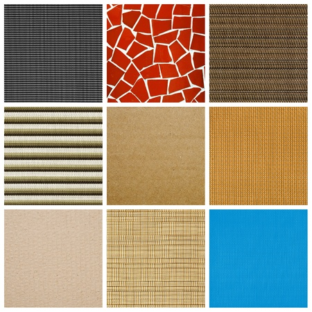 a collage of nine pictures of different textures and surfaces photo