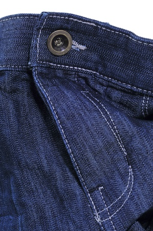 close button: closuep of a pair of blue jeans on a white background