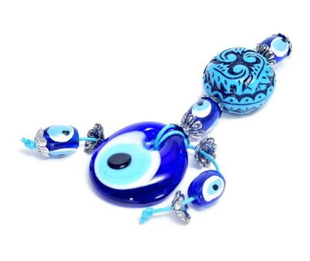 good evil: evil eye amuleton a white background Stock Photo