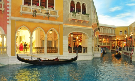 Las Vegas, US - October 12, 2011: The Venetian Resort Hotel Casino in Vegas, US. The luxury resort has a five-diamond hotel with 4,049 suites and 4,059 hotel rooms