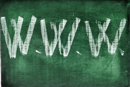 www abbreviation for world wide web written with chalk on a chalkboard Stock Photo - 13372609