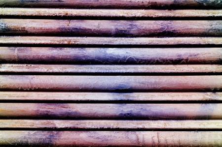 closeup of a rusty garage roller door photo