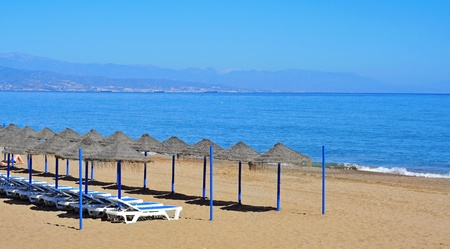 A view of Bajondillo Beach in Torremolinos, Spain Stock Photo - 13571800