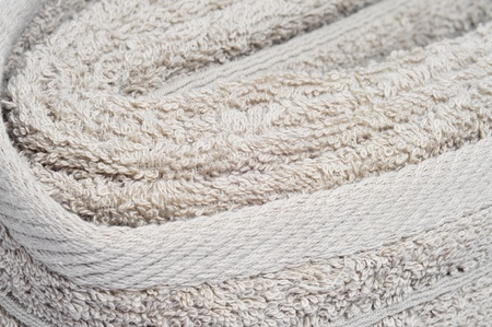closeup of a beige towel photo