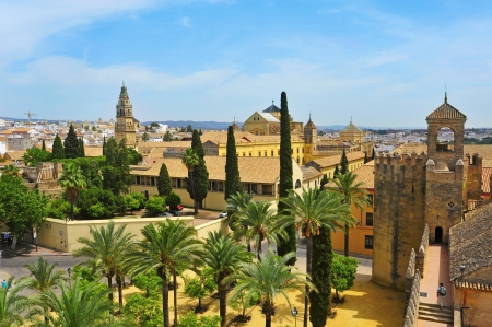 View of Alcazar and Cathedral Mosque of Cordoba, Spain Stock Photo - 13869229