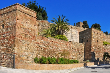 malaga: a view of Alcazaba of Malaga, in Malaga, Spain