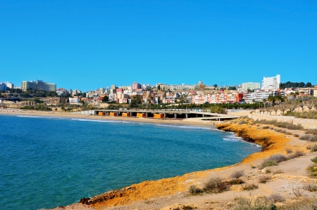 Miracle Beach and panoramic view of Tarragona, Spain Stock Photo - 13912975