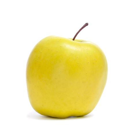 golden apple: a golden apple on a white background