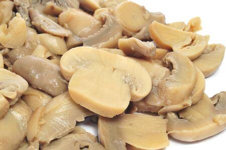 sliced mushrooms on a white background photo