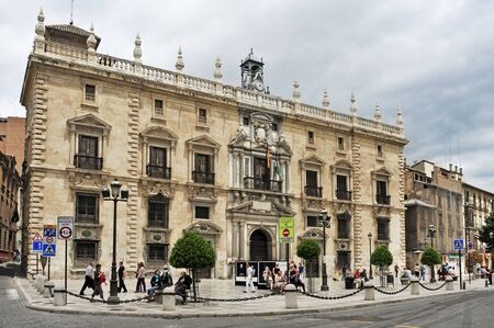mannerism: Granada, Spain - May 19, 2012: Palacio de la Chancilleria in Granada, Spain. Nowadays, this mannerist building is the seat of the High Court of Andalusia