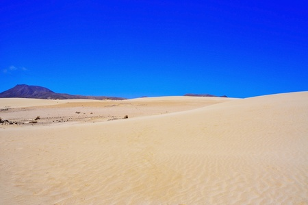 a view of Natural Park of Dunes of Corralejo in Fuerteventura, Canary Islands, Spain Stock Photo - 14347482