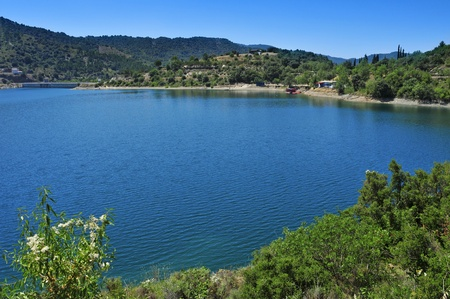 spanish landscapes: view of Siurana Reservoir in Tarragona Province, Spain