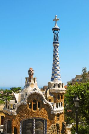 Barcelona, Spain - June 6, 2010: Park Guell in Barcelona, Spain. The famous park was built between 1900 and 1914 and is part of the UNESCO World Heritage Site Works of Antoni Gaudi Stock Photo - 14500037