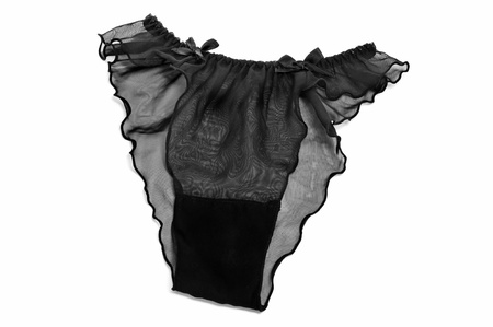 Sexy zwarte slipje op een witte achtergrond Stockfoto - 14584833