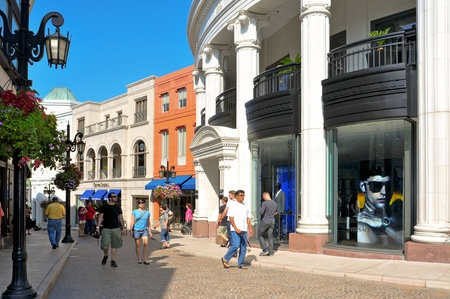 Beverly Hills, US - October 16, 2011: Two Rodeo in Rodeo Drive in Beverly Hills, US. There are more than 100 world-renowned boutiques in this area Stock Photo - 14612152