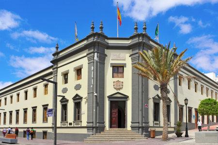 insular: Puerto del Rosario, Spain - June 19, 2012: Seat of Cabildo Insular de Fuerteventura in Puerto del Rosario, Fuerteventura, Spain. Cabildo is the government of each of the Canary Islands