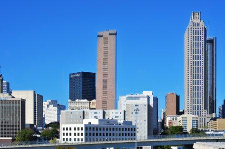 Atlanta, US - October 21, 2011: Skyline of Downtown Atlanta in Atlanta, US. Atlanta has the nation