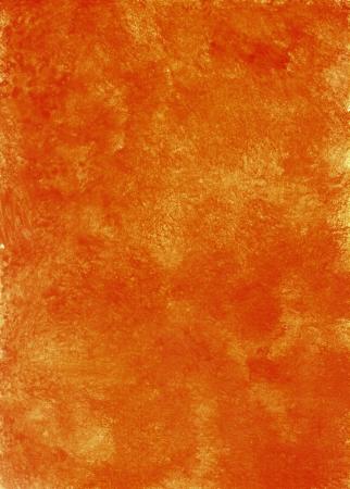rusty background: orange textured watercolor background