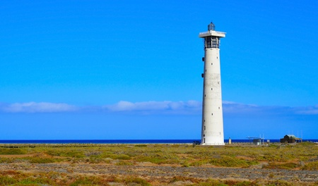 view of the Beacon of Morro Jable in Fuerteventura, Canary Islands, Spain Stock Photo - 14980268