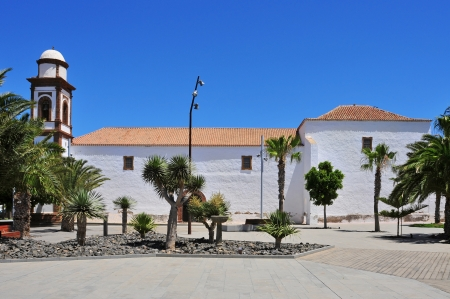 antigua: a view of Church of Our Lady of Antigua in Fuerteventura, Canary Islands, Spain Stock Photo