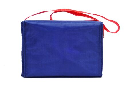 handled: a blue multipurpose handled bag on a white background