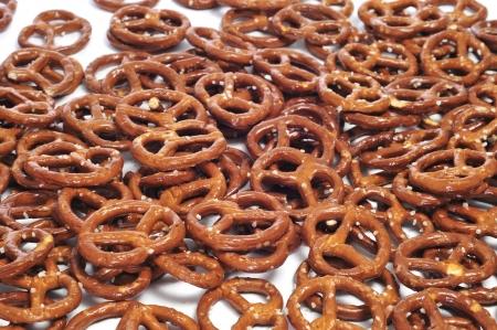 pretzels: closeup of a pile of delicious pretzels