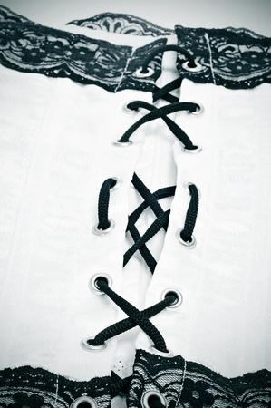 fetishism: closeup of a sexy corset Stock Photo