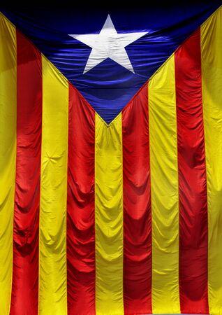 separatist: The Estelada, the Catalan independentist flag Stock Photo
