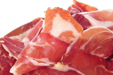 tapas: closeup of a some spanish serrano ham tapas