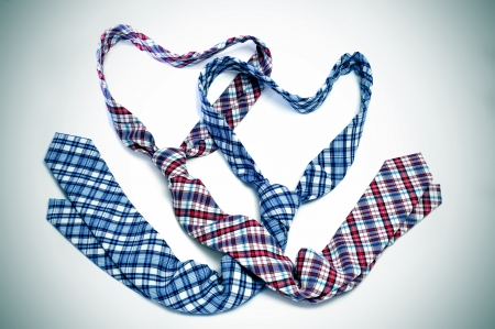 two ties forming hearts symbolizing  love or  marriage photo