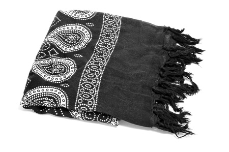 neck scarf: a paisley patterned pareo on a white background Stock Photo