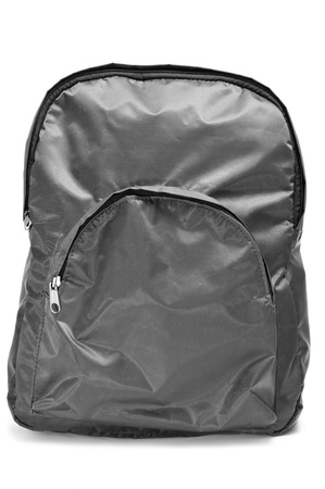 packsack: a gray backpack on a white background