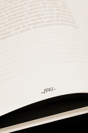 number 2013, the new year, as a page number on a book page Stock Photo - 15589181