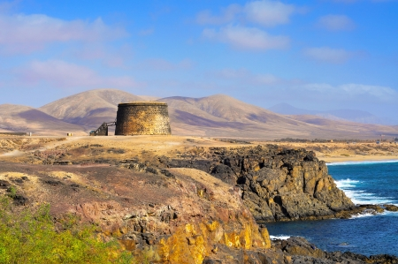 canary: Torre del Toston castle in El Cotillo, Fuerteventura, Canary Islands, Spain