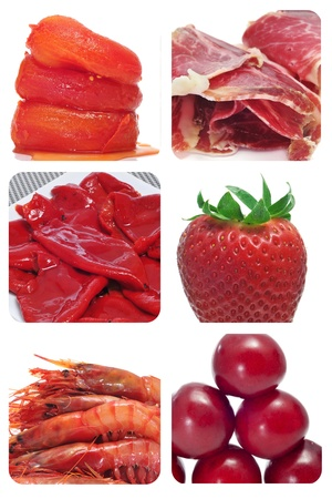 red food collage photo