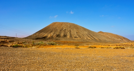 view of Tindaya Mountain in La Oliva, Fuerteventura, Canary Islands, Spain Stock Photo - 16069389