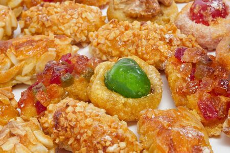 panellets: panellets, typical pastries of Catalonia, Spain, eaten in All Saints Day