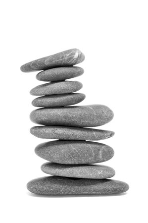 a stack of balanced zen stones on a white background Stock Photo - 16169925