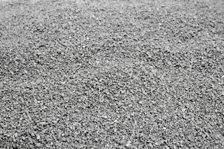 closeup of a pile of gray gravel photo