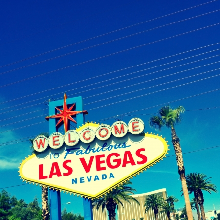 A view of Welcome to Fabulous Las Vegas sign in Las Vegas Strip Stock Photo - 16170112