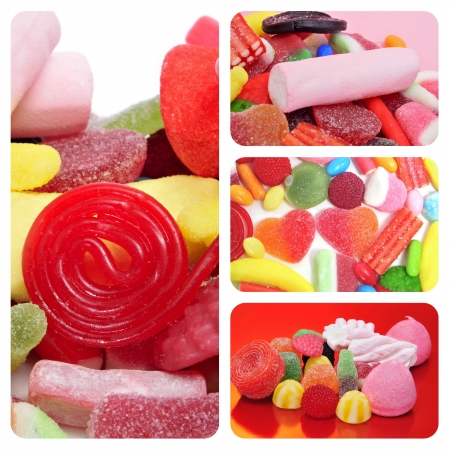 a collage of different pictures of candies Stock Photo - 16262771