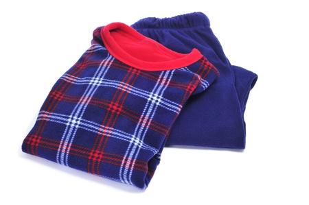 closeup of a warming winter pajamas on a white background Stock Photo - 16685649