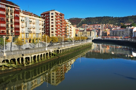 A view of the Estuary of Bilbao, in Bilbao, Spain