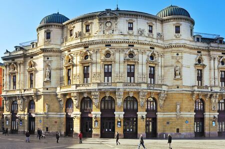 bilbo: Bilbao, Spain - November 14, 2012: Teatro Arriaga in Bilbao, Spain. This opera house, built in 1890, is named after Juan Crisostomo de Arriaga known in his time as the Spanish Mozart