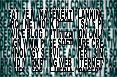 word web written on a background full of words about internet concept Stock Photo - 17058198