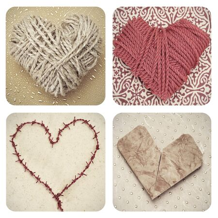 a collage of some pictures of different hearts Stock Photo - 17058205