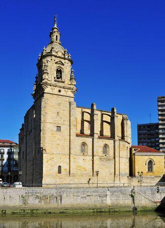 anton: Nervion River and San Anton Church in Bilbao, Spain
